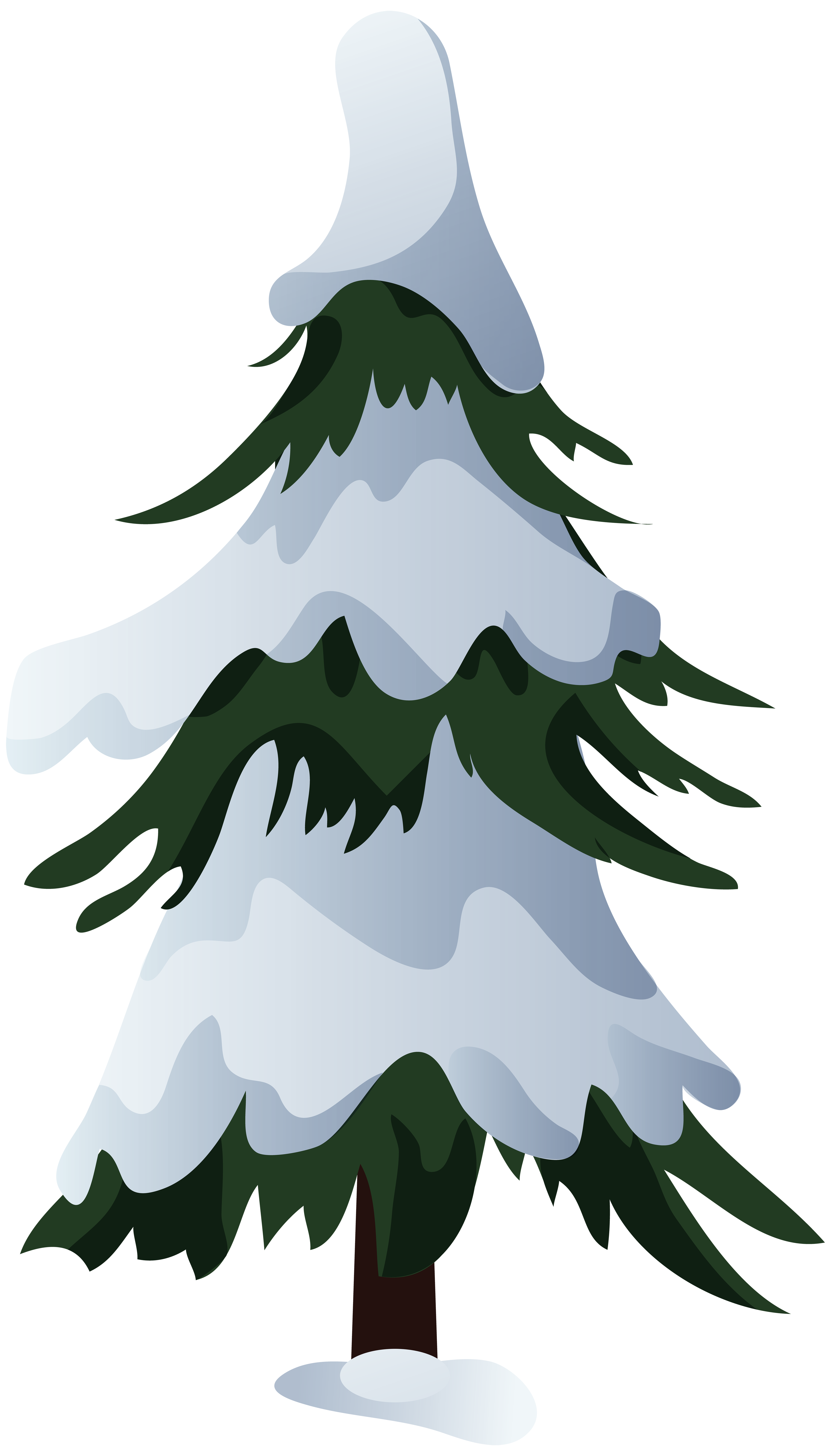 snowy trees png