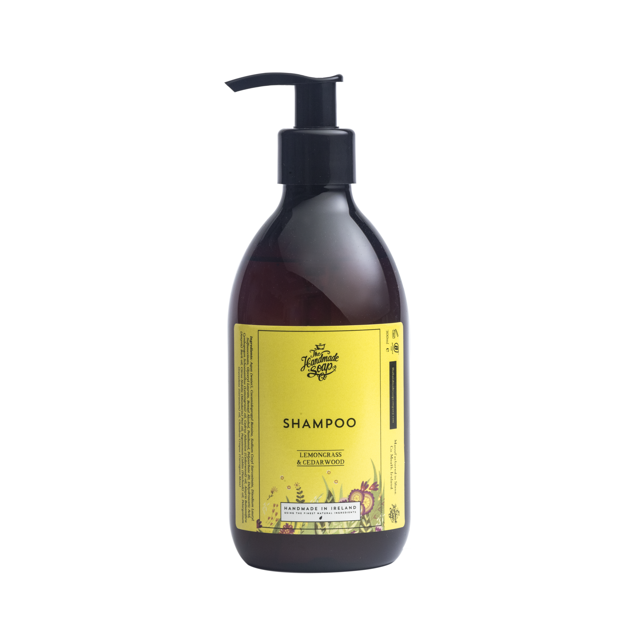 Soap transparent based. Plant shampoo with lemongrass