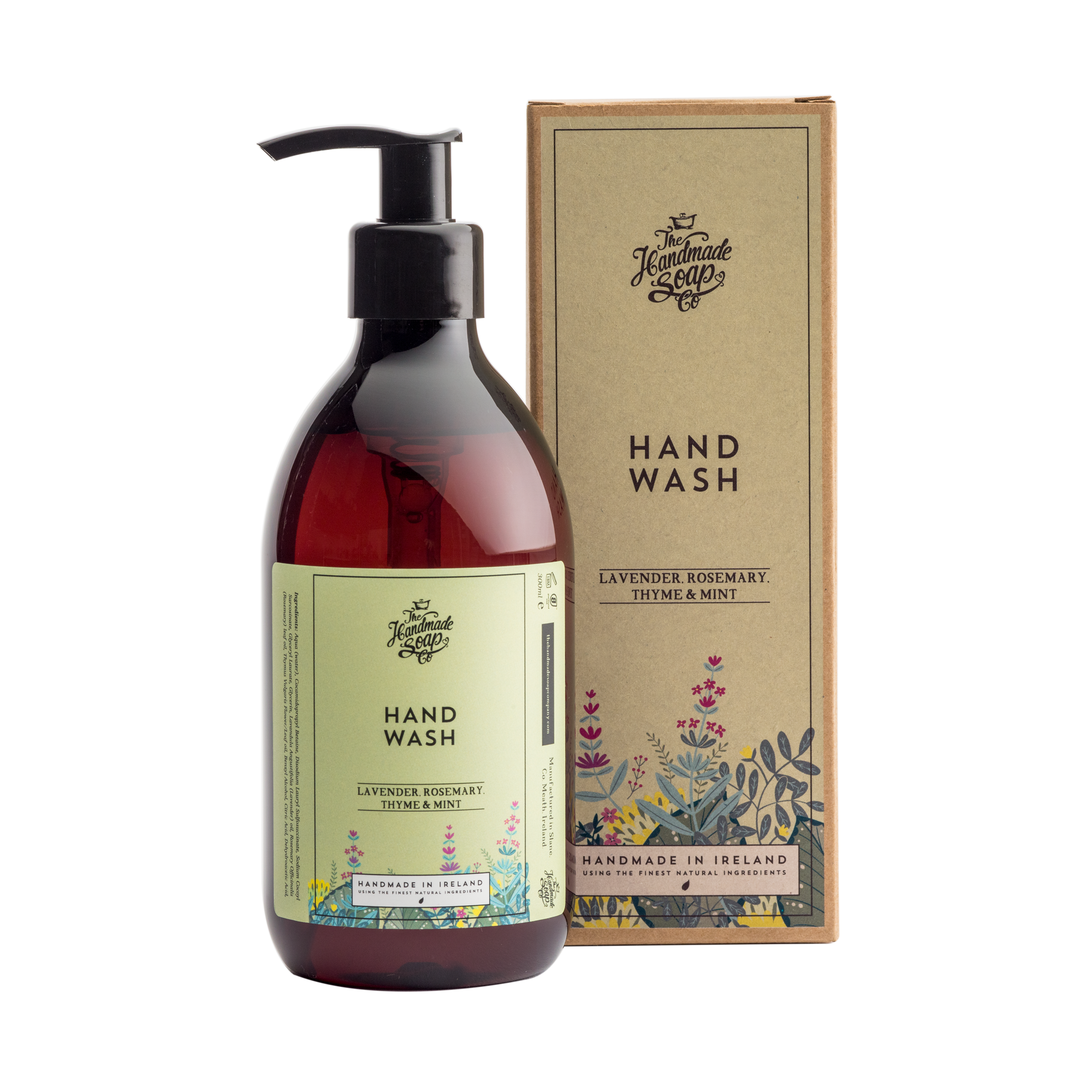 Soap transparent based. Plant hand wash with