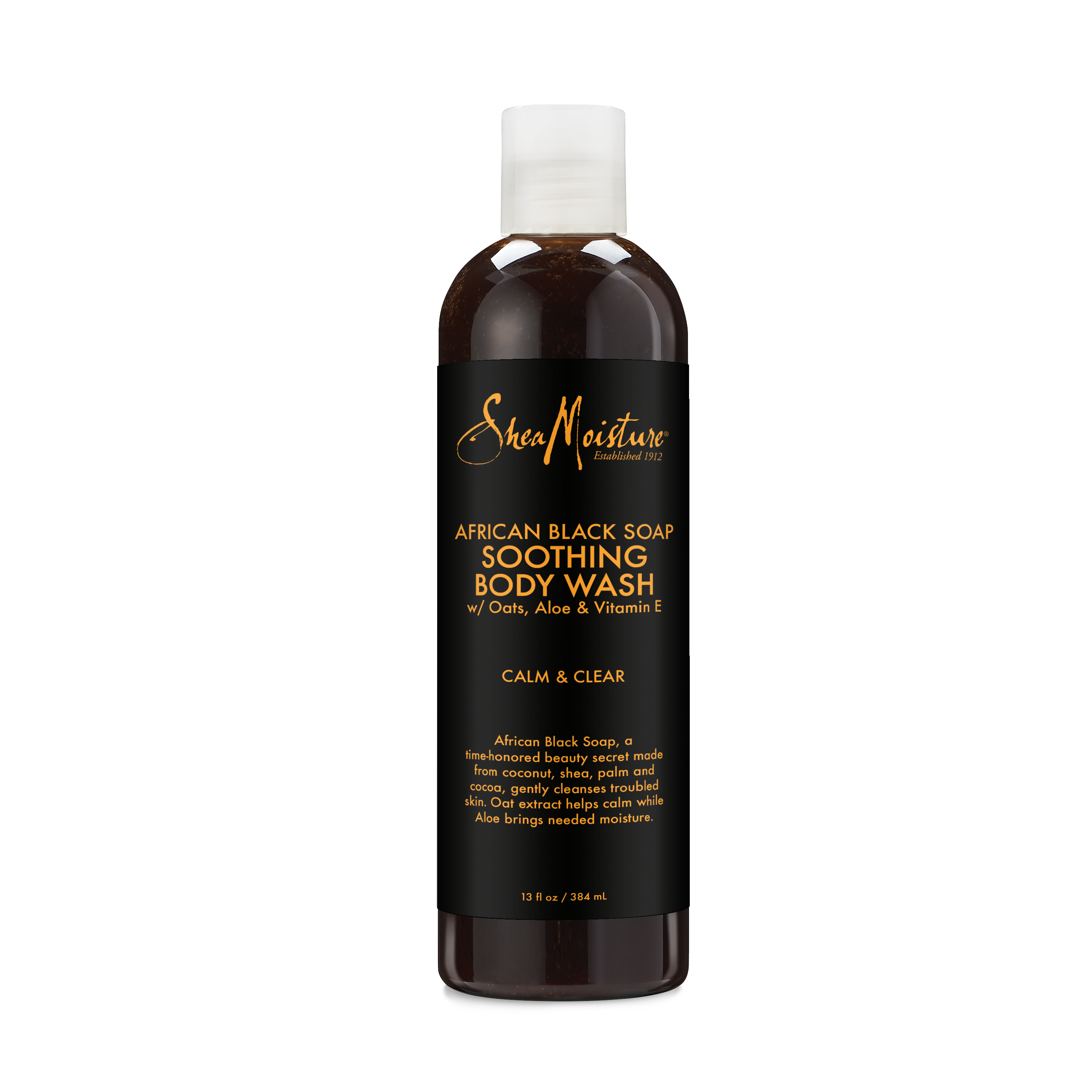 Soap transparent black. African body wash moisturizes