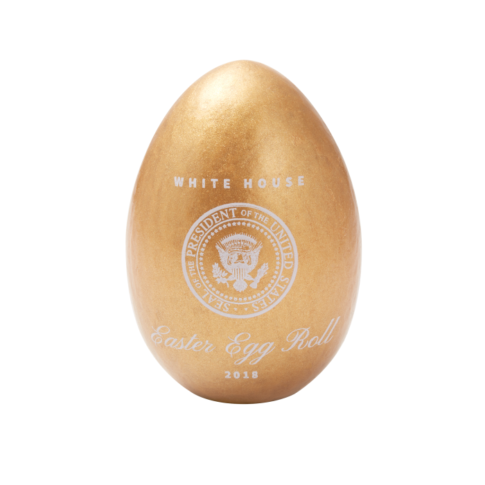 Soap transparent egg. Official gold white house