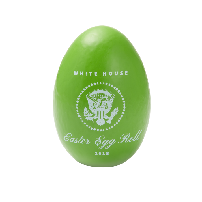 Soap transparent egg. Official green white house