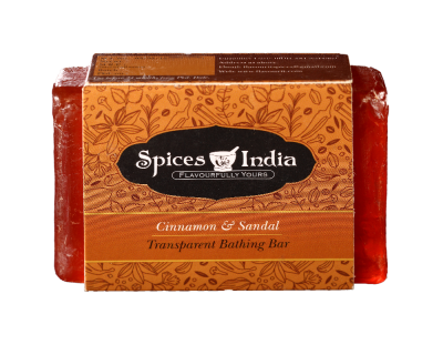 Soap transparent flavour. Gift box from holy