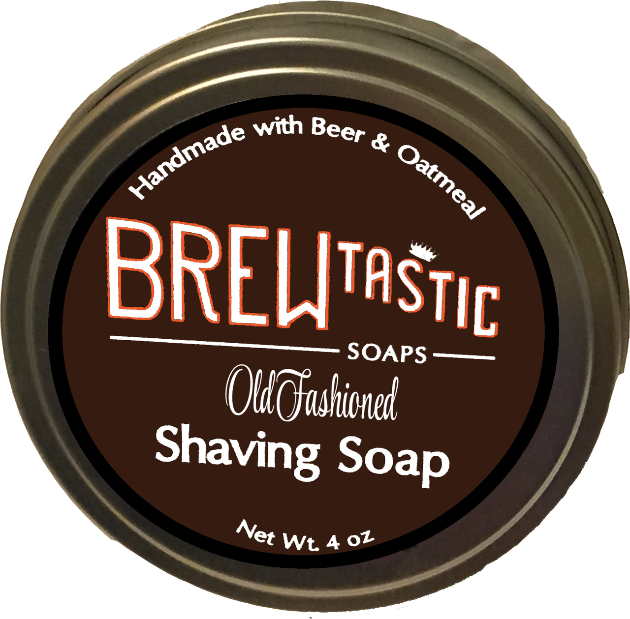 Beer oatmeal shaving soap. Transparent soaps old banner black and white stock