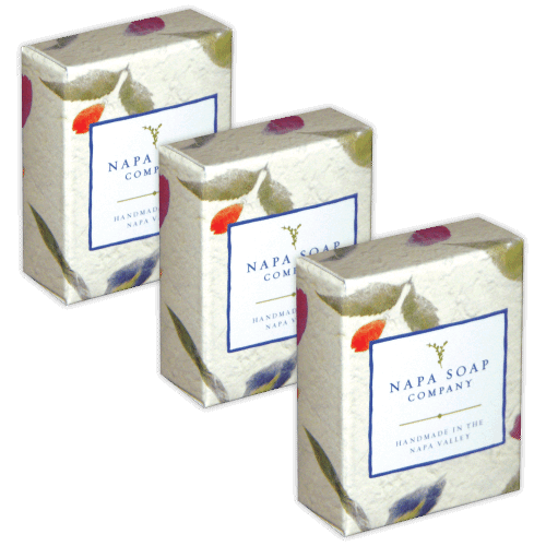 Soap transparent packaging. Custom guest boxes