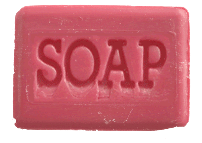 transparent soaps red