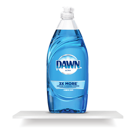 Soap transparent based. Dishwashing products dawn dish
