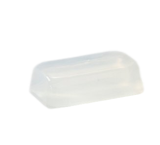 Soap transparent white. Crystal clear melt and