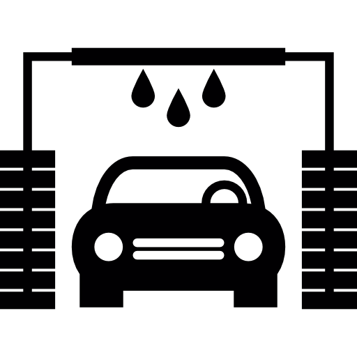 Soap vector car wash. Commercial structure icons free