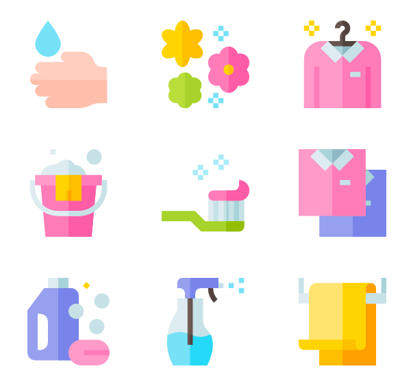Soap vector sponge. Cleaning icons free clean