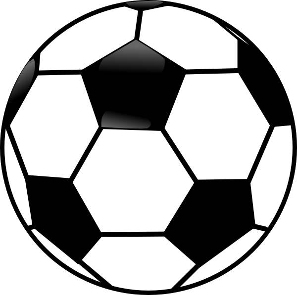 Black and white soccer. Ball clipart clip freeuse stock