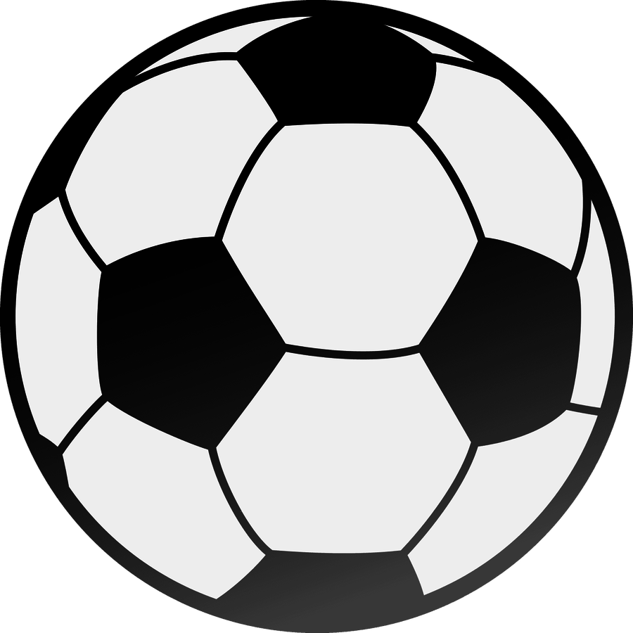 Soccer ball clipart black and white. Half graphic transparent download