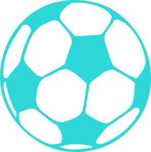 Soccer ball clipart colored. Color black and white