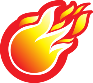 Soccer ball clipart fire. Icon clip art at