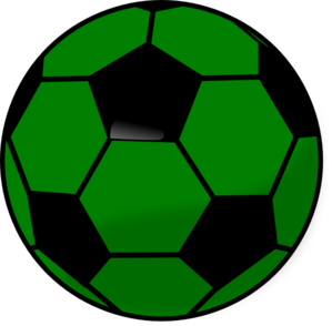 Soccer ball clipart green. Png black and white