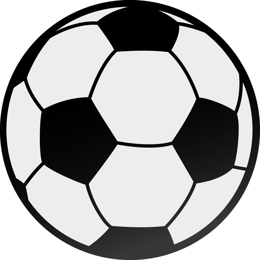 Soccer ball clipart heart. Football black and white