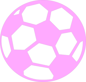 Soccer ball clipart pink. Clip art at clker