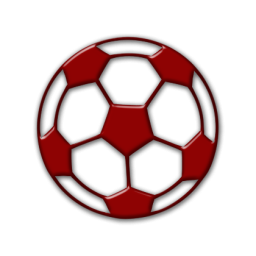 Soccer ball clipart red. Image
