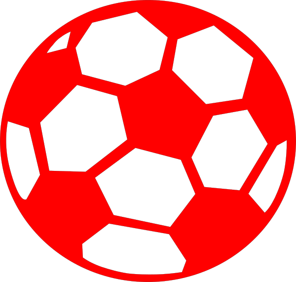 Soccer ball clipart red. Clip art at clker