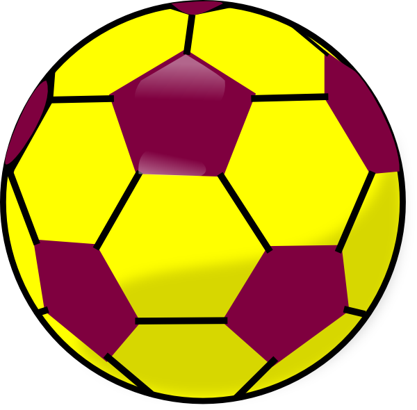Soccer ball clipart red. Blue and yellow soccerball