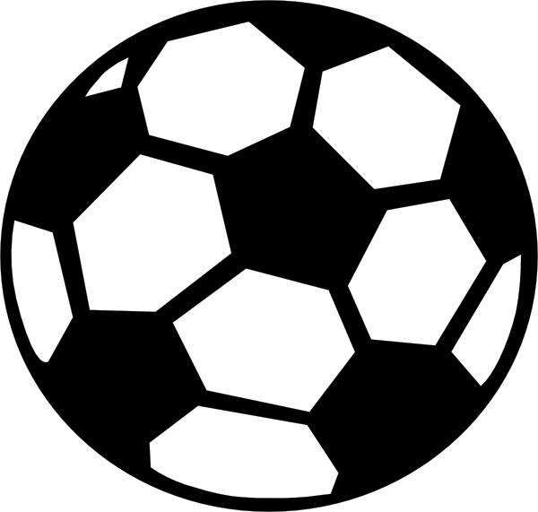 soccer ball clipart colored