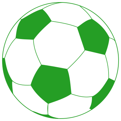 Soccer ball png green. Black and white library