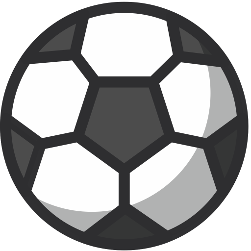 Soccer ball png icon. Free sport games icons