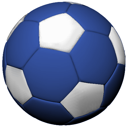 soccer ball png blue