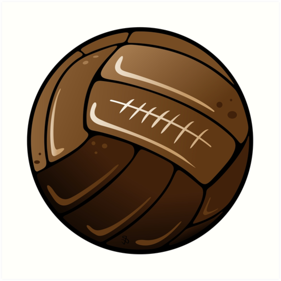 Soccer ball png old. Art prints by chocodole