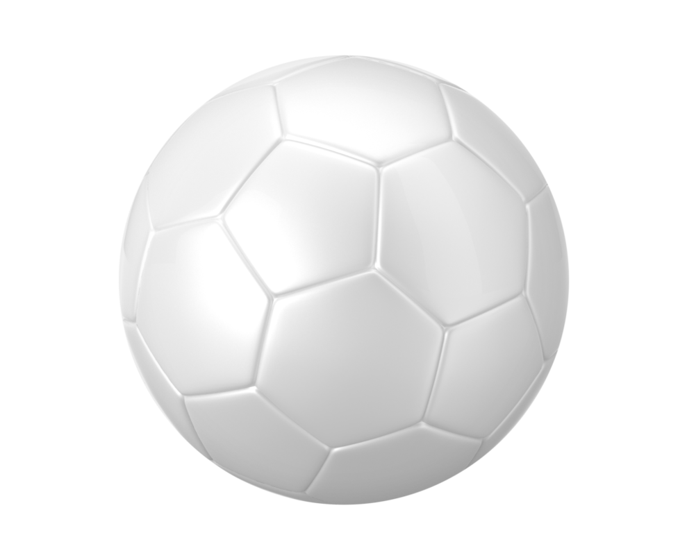 Soccer ball transparent png. On a background by