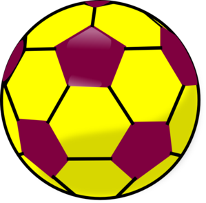 Blue and yellow soccer. Ball clipart graphic freeuse library