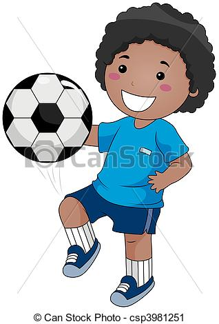 Soccer clipart child. Playing boy csp banner transparent
