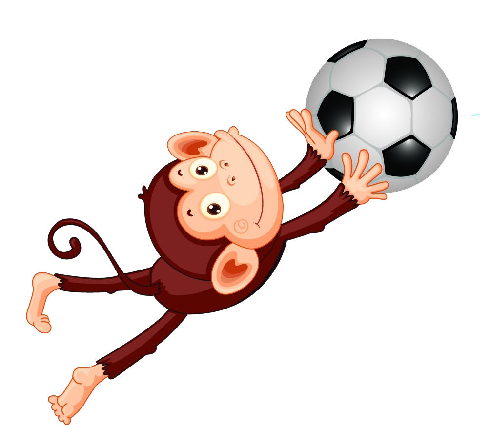 Soccer clipart monkey. Free on dumielauxepices net