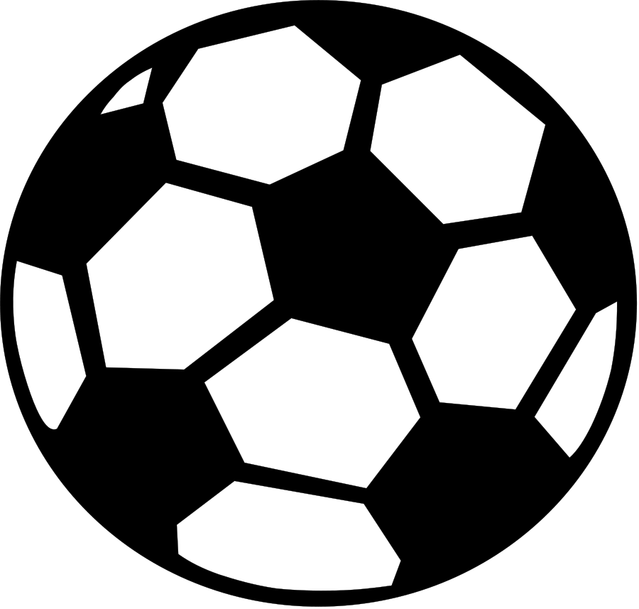 Soccer ball clipart simple. Free vector download clip