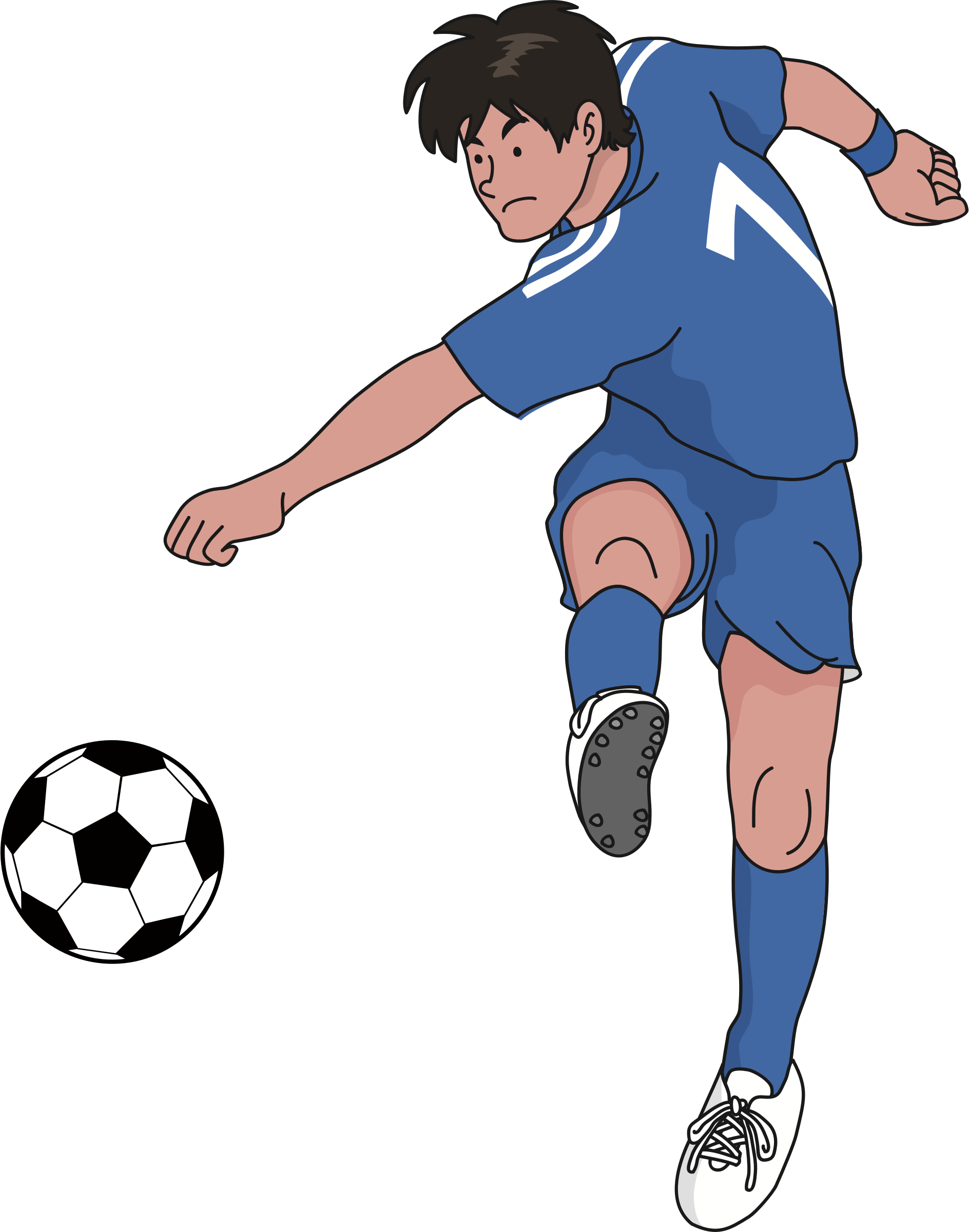 Soccer player clipart png. Big image