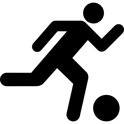 Soccer player icon png. Running with the ball