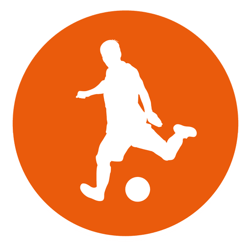Soccer player icon png. Circle transparent svg vector