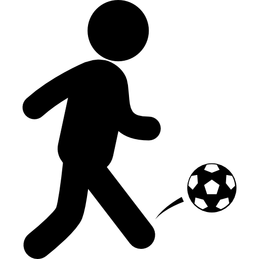 Soccer player icon png. With ball free sports