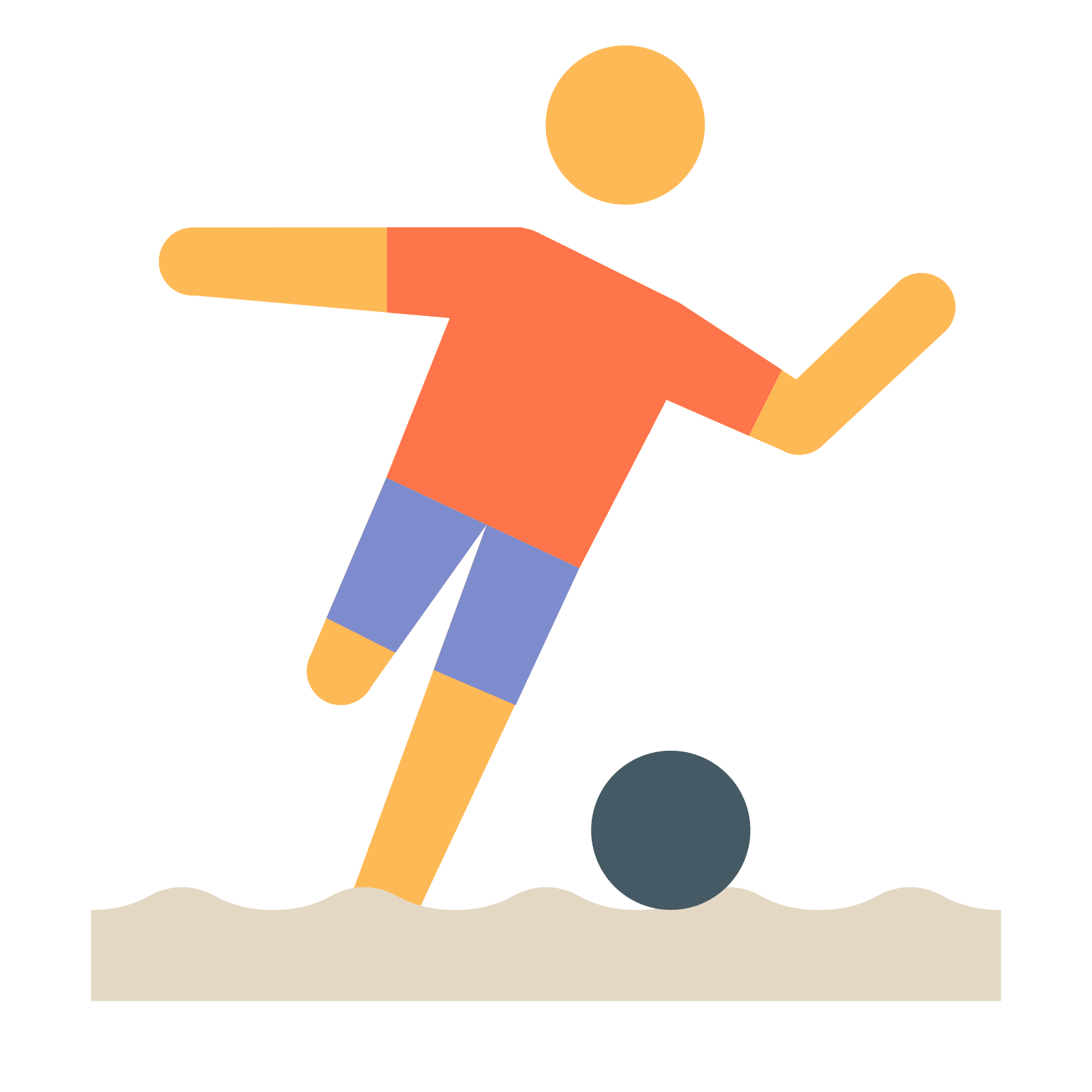 Soccer player icon png.
