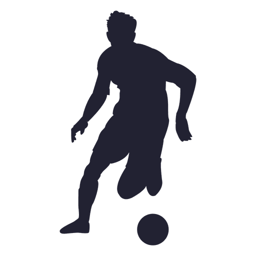 Soccer player silhouette png. Transparent svg vector