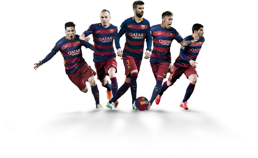 Sports team png. Fc barcelona football player