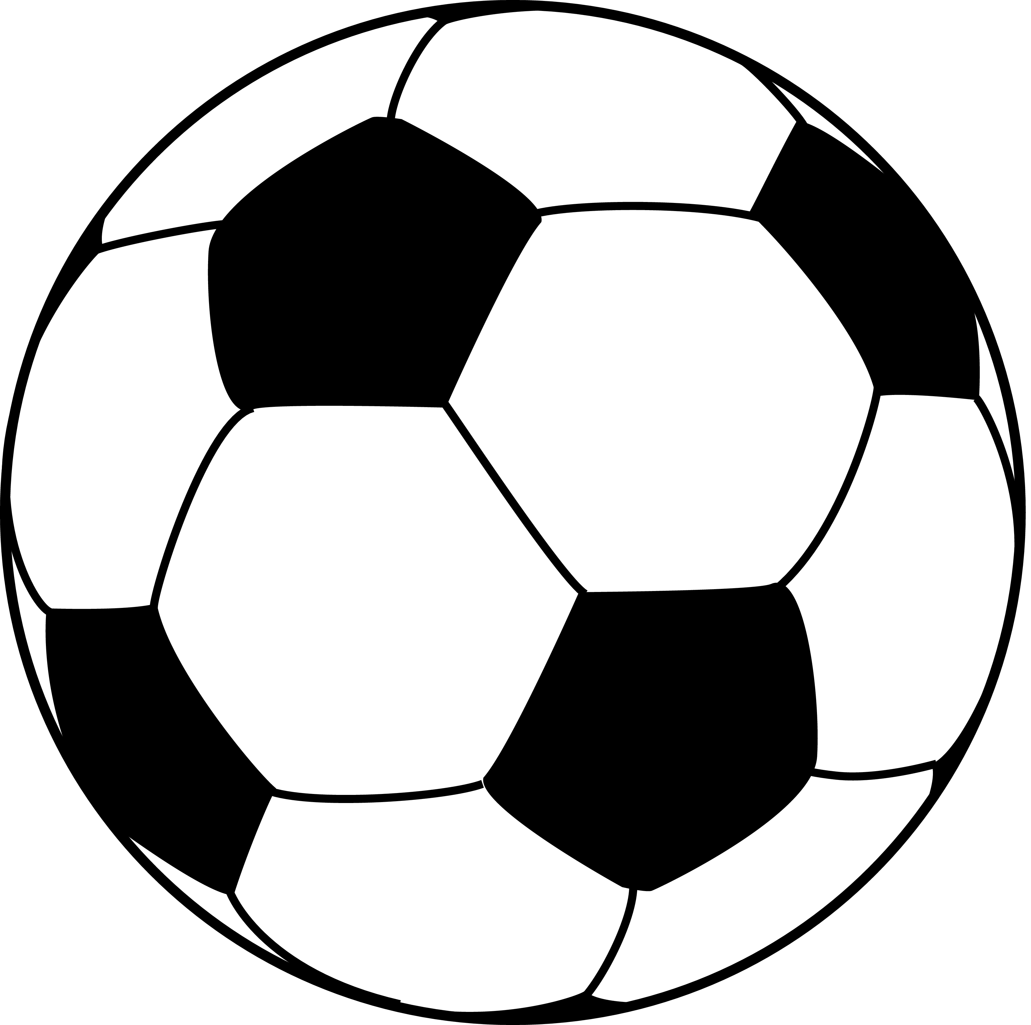 Soccerball drawing outline. Collection of line