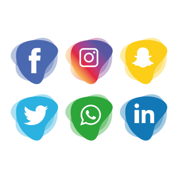Social media icons png transparent. Vectors psd and clipart
