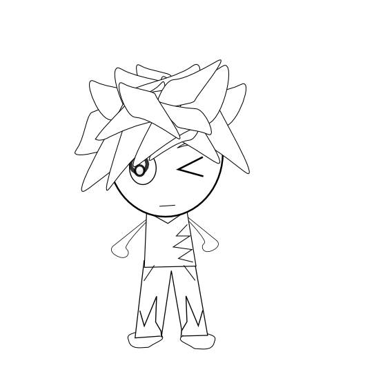 Social drawing anime character. Clipartist net clip art