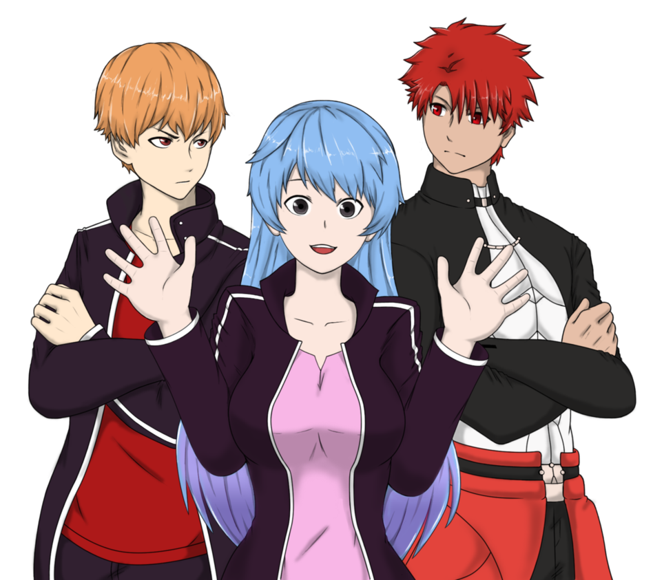 Social drawing anime character. Episicava characters group by