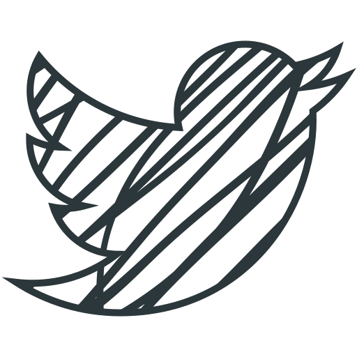 Social drawing bird. Twitter icon myiconfinder blue