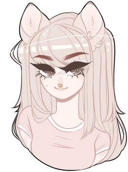 Social drawing hairstyle. Comm mompaws by royalbones
