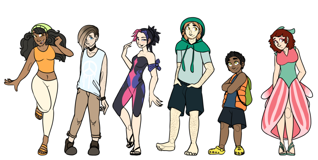 Social drawing humanized. Pokemon sun team by