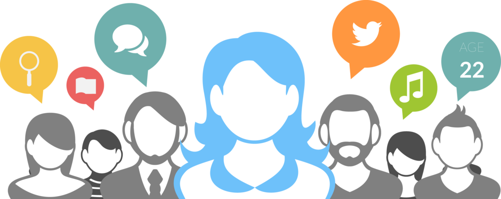 Social media background png. Breaking down the personalities