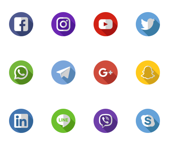 Vector chalkboard social media icon. Icons pinterest